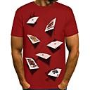 Недорогие Мужские футболки и майки-Муж. Футболка Круглый вырез 3D Черный / Длинный рукав