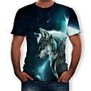 povoljno Muške majice i potkošulje-Majica s rukavima Muškarci 3D / Životinja Okrugli izrez Print Djetelina