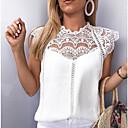povoljno LED svjetla u traci-Bluza Žene Jednobojni Širok kroj, Čipka Obala / Proljeće / Ljeto