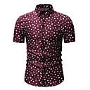 رخيصةأون قمصان رجالي-رجالي طباعة قميص, منقط ياقة كلاسيكية