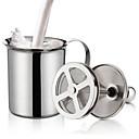 povoljno Zidni ukrasi-dvostruko mesh creamer za mlijeko od nehrđajućeg čelika frother za cappuccino mlijeka jugs jaja lupati kuhinja alat gadgets