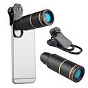 رخيصةأون كاميرا هاتف جوال-عدسة الهاتف المحمول عدسة تركيز طويل زجاج / سبيكة ألومنيوم 10x و أكثر 32 mm 3 m 9 ° العدسة مع الحامل
