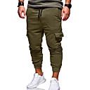 povoljno Chinos-Muškarci Aktivan / Osnovni Dnevno Slim Chinos / Sportske hlače Hlače - Jednobojni Vojska Green Žutomrk Svijetlosiva XXL XXXL XXXXL