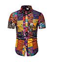 رخيصةأون تيشيرتات وتانك توب رجالي-رجالي طباعة قياس كبير تيشرت, هندسي قبعة القميص