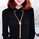 ieftine Colier la Modă-lipsesc u ciucure femei lung colier zircon dulce moda minunat aur de argint 70 cm colier bijuterii 1pc pentru stradă de zi cu zi