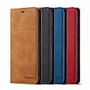 billige Etuier/covers til Huawei-Etui Til Huawei Huawei P20 / Huawei P20 Pro / Huawei P20 lite Kortholder / Stødsikker Fuldt etui Ensfarvet PU Læder
