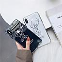 رخيصةأون أغطية أيفون-غطاء من أجل Apple iPhone XS / iPhone XR / iPhone XS Max ضد الصدمات / شفاف غطاء خلفي نموذج هندسي / حيوان ناعم TPU