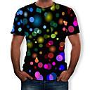 povoljno Muške majice i potkošulje-Majica s rukavima Muškarci Dnevno 3D Okrugli izrez Print Crn / Kratkih rukava
