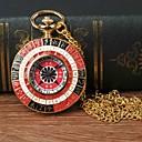 رخيصةأون بولو رجالي-رجالي ساعة جيب كوارتز ذهبي ساعة كاجوال طرد كبير مماثل كاجوال موضة - أسود-أحمر