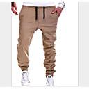 povoljno Muške hlače-Muškarci Osnovni Jogger Hlače - Jednobojni Crn Sive boje Žutomrk XL XXL XXXL