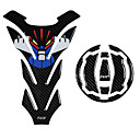 povoljno Auto Body Decoration & Zaštita-5d karbonskih vlakana motocikl spremnik goriva jastučić kapica naljepnice za plin kapa naljepnica za kawasaki ninja650 / er6f z900 r 2017 versys x300 ninja650