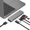 """رخيصةأون ماك بوك برو 15 """"الحالات-LENTION CB-TP-CS64THCR أوسب 3.0 نوع C to HDMI 2.0 / Thunderbolt / USB 3.0 / أوسب 3.0 نوع C / SD Card أوسب هاب 9 الموانئ سرعة عالية / مع قارئ بطاقة (ق) / دعم وظيفة توصيل الطاقة / دعم الصاعقة 3"""