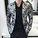 povoljno Men's Winter Coats-Muškarci Veći konfekcijski brojevi Sako Klasični rever Poliester Srebro / Slim