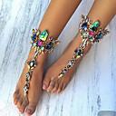 povoljno Muške jakne-Žene Sandale od nakita Europska Imitacija dijamanta Kratka čarapa Jewelry Crn / Pink / Plava Za Dnevno