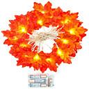 povoljno Prstenje-1 set 20 leds niz svjetlo crvene javorov list rekvizite javorov list noćno svjetlo zahvalnosti odmor ukras baterija kutija