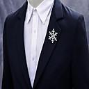 povoljno Broševi-Muškarci Žene Kristal Broševi Kreativan Pahulja Jednostavan Moda Broš Jewelry Pink Za Božić Vjenčanje Party Angažman Dar