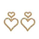 رخيصةأون أقراط-نسائي أقراط قطرة قلب أنيق تقليد الماس الأقراط مجوهرات ذهبي من أجل زفاف خطوبة 1 زوج