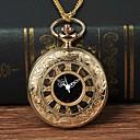 رخيصةأون ساعات الرجال-رجالي ساعة جيب كوارتز ذهبي ساعة كاجوال طرد كبير مماثل موضة - ذهبي