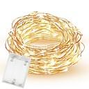 povoljno LED svjetla u traci-10m 33ft 100 vodio smd 0603 vila svjetla rezanje AA baterije vodootporan bakrene žice treptati kreativni niz svjetla za spavaću sobu zatvoreni vanjski vjenčanja spavaonica dekor