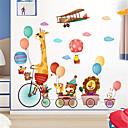 رخيصةأون ملصقات ديكور-الكرتون لطيف ملصقات الحائط الحيوان ذاتية اللصق خلفية رياض الأطفال ملصقات الحائط الديكور غرفة نوم ملصقات الأطفال غرفة نوم