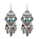 voordelige Galaxy J5 Hoesjes / covers-Dames Druppel oorbellen Oorbellen hangen oorbellen Sieraden Zilver Voor Carnaval 1 paar