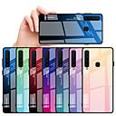 رخيصةأون واقيات شاشات سامسونج-غطاء من أجل Samsung Galaxy A6 (2018) / A6+ (2018) / Galaxy A7(2018) ضد الصدمات غطاء خلفي لون متغاير قاسي TPU / زجاج مقوى