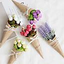 رخيصةأون أزهار اصطناعية-زهور اصطناعية 1 فرع كلاسيكي الحديث المعاصر أوروبي الورود أزرق فاتح الزهور الخالدة أزهار الطاولة