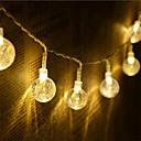 ieftine Cabluri de Adaptor AC & Curent-1.5m Fâșii de Iluminat 10 LED-uri Alb Cald / RGB / Alb Creative / Petrecere / Decorativ Baterii AA alimentate 1set