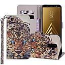 رخيصةأون أدوات الفرن-غطاء من أجل Samsung Galaxy A5(2018) / A6 (2018) / A6+ (2018) محفظة / حامل البطاقات / مع حامل غطاء كامل للجسم حيوان قاسي جلد PU
