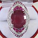 povoljno Prstenje-Žene Prsten obećanja Akvamarin 1pc Crvena Kamen Geometric Shape Stilski Luksuz Party Angažman Jewelry Klasičan Radost Cool