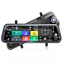 voordelige Auto DVR's-volledig scherm streaming media achteruitkijkspiegel auto dvr 140 graden groothoek 10 inch dash cam met wifi / gps / nachtzicht autorecorder