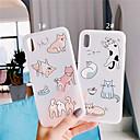 رخيصةأون أغطية أيفون-غطاء من أجل Apple iPhone XS / iPhone XR / iPhone XS Max مثلج غطاء خلفي حيوان / كارتون ناعم TPU