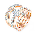 povoljno Prstenje-Žene Prsten Prstenasti set Prsten za vječnost 1pc Zlato Umjetno drago kamenje Legura Jednostavan Europska Moda Dnevno Ulica Jewelry Cool