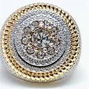 رخيصةأون القلائد-رجالي خاتم 1PC ذهبي حجر الراين سبيكة أوروبي هيب هوب مناسب للبس اليومي مجوهرات