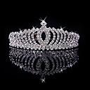 ieftine Bijuterii de Păr-Pentru femei Fete Tiare Pentru Casual Bal Party & Seară Gril pe Kamado  Homecoming Royalty Cristale / Strasuri Argilă Aliaj Argintiu