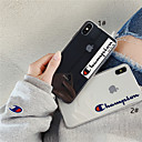 voordelige Galaxy A-serie hoesjes / covers-hoesje Voor Apple iPhone XS / iPhone XR / iPhone XS Max Transparant / Patroon Achterkant Woord / tekst / Transparant Zacht TPU