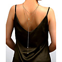 ieftine Bijuterii de Păr-Corp lanț / burtă lanț Pentru femei Bijuterii de corp Pentru Nuntă Petrecere Imitație de Perle Auriu Argintiu 1 buc