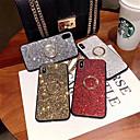 رخيصةأون أغطية أيفون-غطاء من أجل Apple iPhone XS / iPhone XR / iPhone XS Max حجر كريم / حامل الخاتم غطاء خلفي لون سادة قاسي TPU