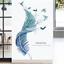 رخيصةأون أدوات الحمام-ريشة جديدة ملصقات الحائط الجدار الديكور غرفة نوم الشرفة الدافئة خلفية عنبر ملصقات ذاتية اللصق ملصقات ورق الحائط