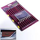 povoljno DIY automobila interijera-10pcs / set 12 boja u stilu automobilske brtvene trake gumeni automobilski otvor za brtvljenje trake krom kromiran obod