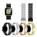 voordelige Horlogebandjes voor Pebble-Horlogeband voor Pebble Time / Pebble Time Steel Pebble Sportband / Klassieke gesp Metaal / Roestvrij staal Polsband