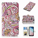 Недорогие Чехлы и кейсы для Galaxy J1(2016)-Кейс для Назначение SSamsung Galaxy S9 / S9 Plus / S8 Plus Кошелек / Бумажник для карт / Флип Чехол Цветы Твердый Кожа PU