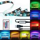 povoljno RGB trakasta svjetla-brelong® 1m rgb traka svjetla 30 led 5050 smd 10 mm 1 daljinski upravljač rgb vodootporan / rezan / usb 5 v 1pc