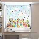 رخيصةأون ملصقات ديكور-نافذة فيلم الرسوم المتحركة&أمبير. ملصقات الديكور 3D / بولي كلوريد الفينيل الهندسية المعاصرة (البولي فينيل كلورايد) المضادة للوهج / ملصقا نافذة