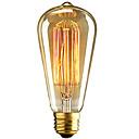 ieftine Becuri Incandescente-1 buc 40 W E26 / E27 ST64 Alb Cald 2300 k Retro / Intensitate Luminoasă Reglabilă / Decorativ Incandescent Vintage Edison bec 220-240 V