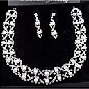 ieftine Seturi de Bijuterii-Perle Seturi de bijuterii Coliere cu Pandativ Franjuri femei Petrecere Modă de Mireasă Perle Zirconiu Cubic Argilă cercei Bijuterii Alb Pentru Nuntă Petrecere Ocazie specială Aniversare Zi de Naștere