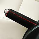 povoljno DIY automobila interijera-univerzalno crna crveni auto auto mjenjač ručica kočnica ručna kočnica poklopac mreže kožna odjeća poklopac