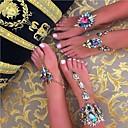 رخيصةأون صنادل حافي القدمين-نسائي Barfotsandaler أوروبي تقليد الماس خلخال مجوهرات أسود / فضي / أزرق من أجل مناسب للبس اليومي