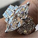povoljno Naušnice-Žene Prsten obećanja Kubični Zirconia 1pc Obala Kamen Geometric Shape Stilski prelijeva Vjenčanje Dnevno Jewelry Klasičan Radost Cool