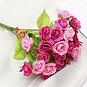povoljno Umjetno cvijeće-Umjetna Cvijeće 1 Podružnica Klasični Suvremena suvremena Pastoral Style Roses Cvjeće za stol